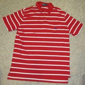 Ralph Lauren Polo  red /whte  shirt size XL